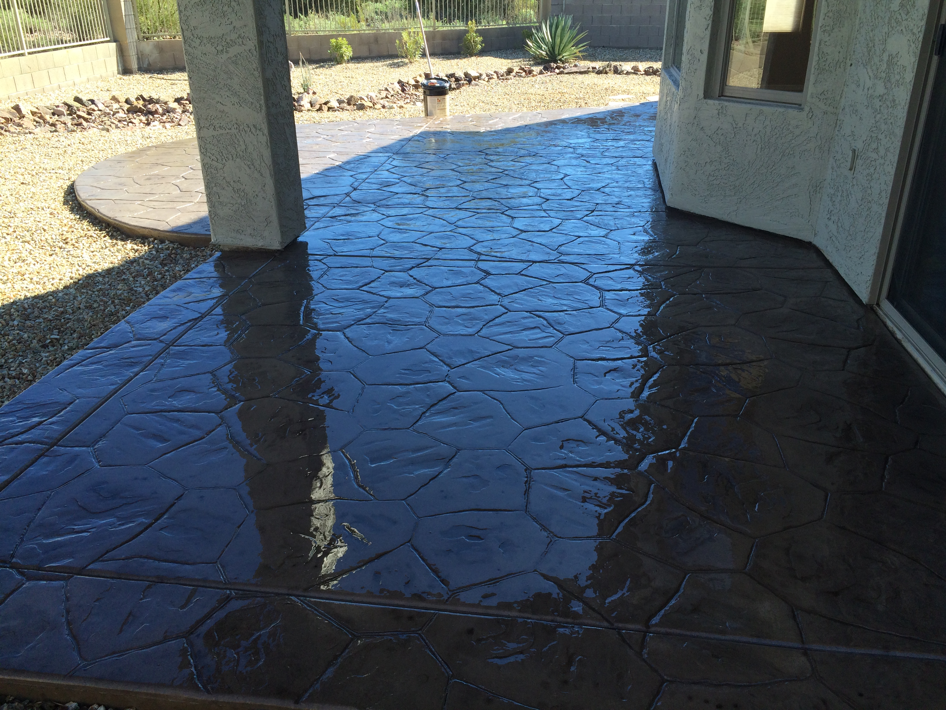 Covered Concrete Patio